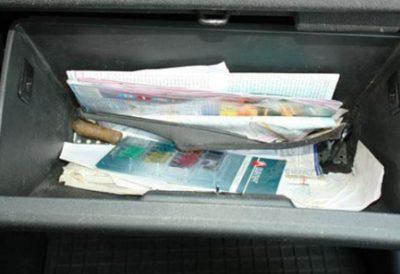 Откройте бардачек Hyundai Getz