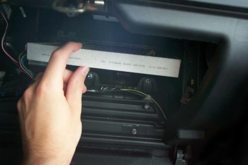 Снимаем салонный фильтр на Mazda 6