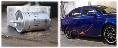 Расположение топливного фильтра на автомобиле
