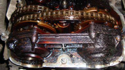 Двигатель, требующий промывания